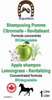 Shampooings Pomme Citronnelle Revitalisant ÉQUIDÉO 1 Litre